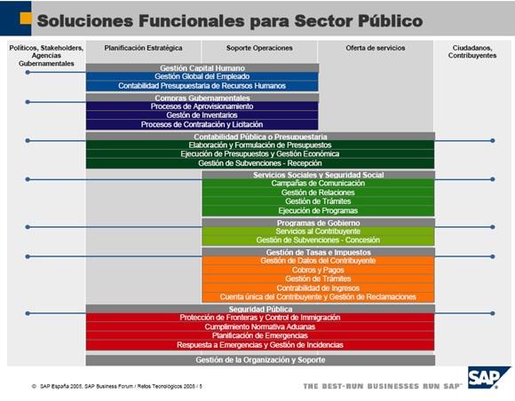 Soluciones Funcionales De Sap Para Sector Público
