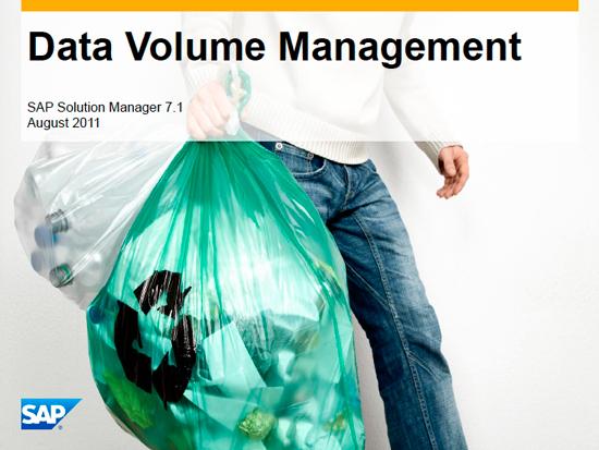 Gestión del Volumen de Datos en SAP